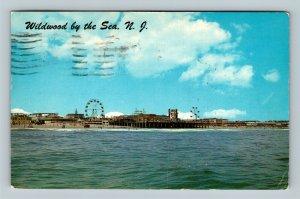 Wildwood By The Sea NJ, Marine Pier, Boardwalk, Chrome New Jersey c1961 Postcard