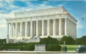 Washington DC - Lincoln Memorial 1958 used Postcard