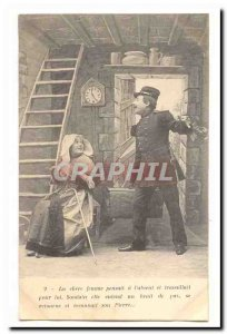 Old Postcard The dear woman had thought the & # 39absent worked for him and s...