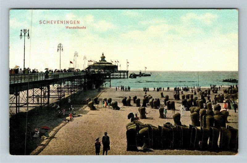 Scheveningen Wandelhoofd Netherlands Vintage Postcard