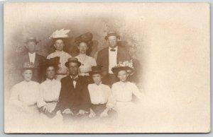 Brooklyn Dream Land @ Coney Island PC~Family of Hats RPPC c1909 Burned Down 1911