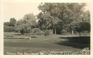 Ellis 1940s Walla Walla Washington Pioneer Park RPPC real photo postcard 372