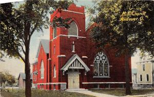 Ohio Postcard c1910 ANDOVER M.E. Church Building