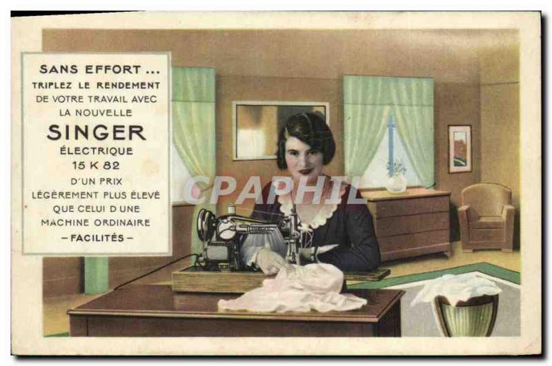 Vintage Postcard Sewing machine To ape 15K82