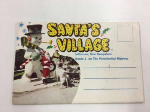 Jefferson New Hampshire Santas Village Souvenir Folder Vintage Postcard K93381