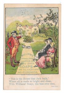Victorian Trade Card Glastonbury CT D W Williams Soaps House That Jack Built