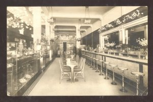 RPPC SAN DIEGO CALIFORNIA BARBOUR CONFECTIONERY CO INTERIOR REAL PHOTO POSTCARD