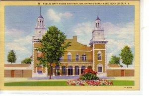 Public Bath House and Pavilion, Ontario Beach Park, Rochester, New York ! !