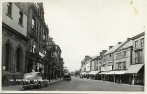 somerset, WELLINGTON, Fore Street, Car Cafe Bank (1950s) RPPC