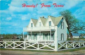 Denison Texas~Dwight David Eisenhower Birth Place~1950s Postcard