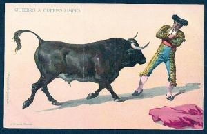 Quiebro a Cuerpo Limpio Bullfighting Mexico unused c1905