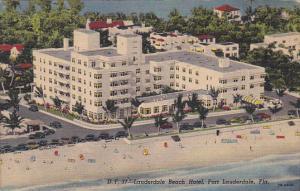 Aerial View, Lauderdale Beach Hotel, Classic Cars, Beach Shore, FORT LAUDERDA...