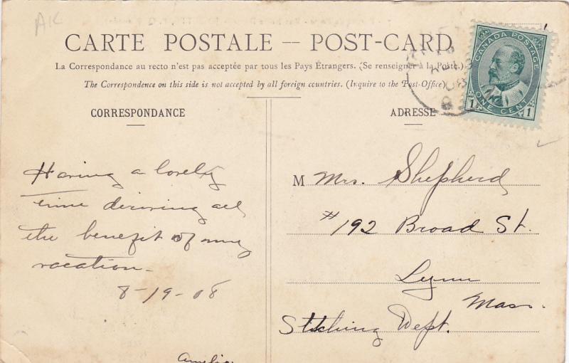 JOLIETTE , Quebec , Canada , PU-1908 , Bureau de Poste - Rue Notre-Dame