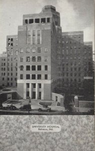 BALTIMORE , Maryland, 1935 , University Hospital