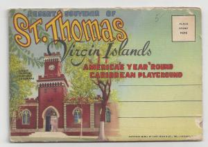 St Thomas Virgin Islands Souvenir Folder 1951 Postcard