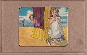PU-1908; Boy Looking At A Girl
