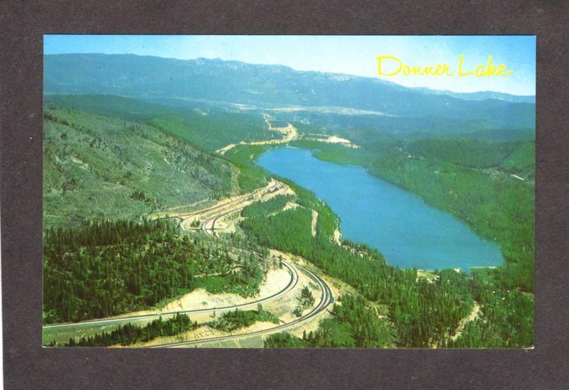 CA Donner Lake Hwy 80,Sierra Nevada nr Truckee California Postcard