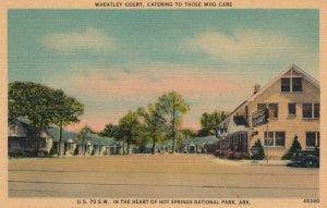 HOT SPRINGS NATIONAL PARK, Arkansas, 1930-40s; Wheatley Court