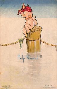 Rose O' Neill Kewpie Help Wanted!! Postcard