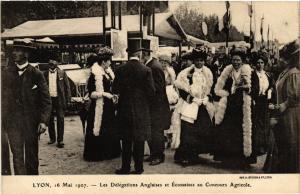 CPA LYON-Les Delegations Anglaises et Ecossaises au Concours Agricole (426819)