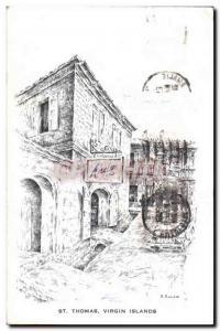 Postcard Old St Thomas Virgin Islands