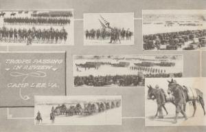 CAMP LEE, Virginia, 1910-20s; Troops Passing in Review, 6-views