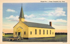 Military Camp Post Card Camp Campbell, KY-TN USA Chapel No. 1 Unused