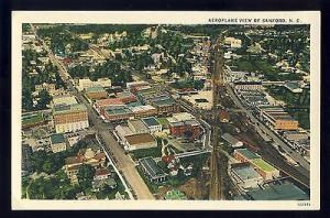 Vintage Sanford, North Carolina/NC Postcard, Aeroplane View