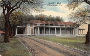 Williamsport Pennsylvania~Country Club~Long Unpaved Driveway~1917 Postcard