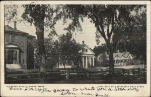 Barre MA Pleasant St. c1905 Postcard
