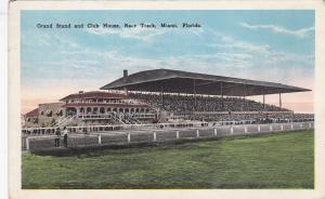 MIAMI, Florida; Grand Stand and Club House, Horse Race Track, 10-20s