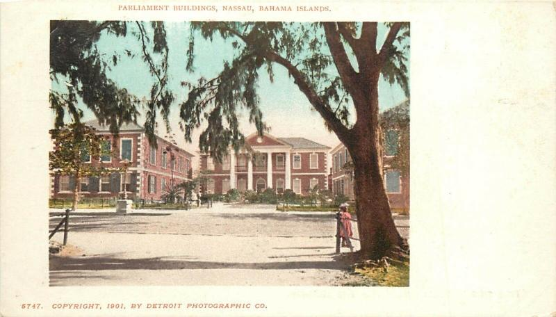 Pvt Mailing Card; Parliament Buildings Nassau Bahamas, Detroit Photographic Co.