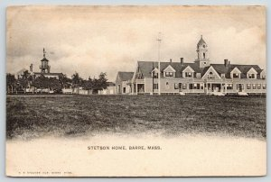 Barre MA~Windvane Atop Watertower~Dairy Farm~Stetson Home & School~c1905
