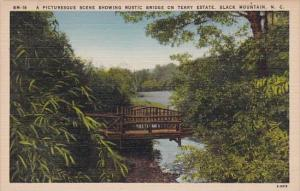 A Picturesque Scene Showing Rustic Bridge On Terry Estate Black Mountain Nort...