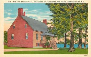 Elizabeth City North Carolina~The Old Brick House Rendezvous Of Blackbeard~1940s