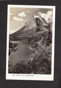 MT Glacier National Park Going to Sun Mountain Montana Real Photo RPPC Postcard