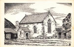 Vintage 1973 Postcard Art Sketch LYNCH Chapel Bossington by Sidney Perrin