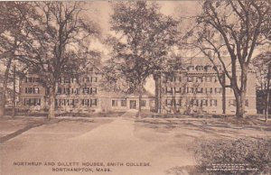 Massachusetts Northampton Northrup And Gillett Houses Smith College Albertype
