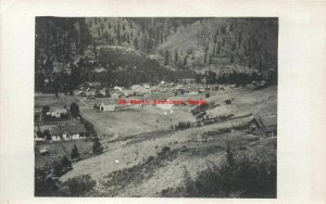 ID, Idaho? RPPC, Panorama View of a Small Town in a Valley