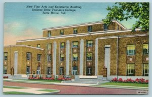Terre Haute Indiana~State Teachers College~Fine Arts & Commerce Bldg~1940 Linen