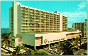 1960s San Juan, PUERTO RICO Postcard SAN JEROMINO HILTON HOTEL View - Unused