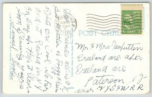 Saratoga Springs New York~Lincoln Baths~Resort Hotel~1948 Kodachrome Postcard