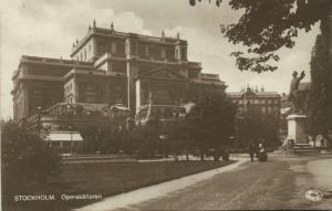 sweden, STOCKHOLM, Operakällaren, Opera Theatre (1918) RPPC