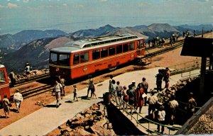 Colorado Colorado Springs Pikes Peak Streamline Diesel Cog Train