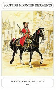 Postcard The Scottish Mounted Regiment Series, 1st Scots Troop of Life Guards