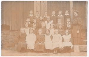 Social History, School Group With Teacher RP PPC, c 1910's, Unknown Location