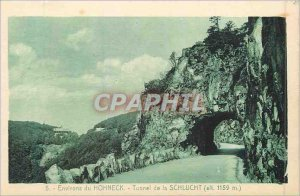 Old Postcard 5 hohneck around the tunnel of the Schlucht (altitude 1159 m)