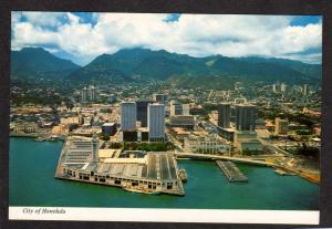 Hawaii View Honolulu Hotels Aloha Tower Postcard Aerial