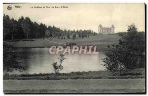 Old Postcard Beloeil Chateau and Park Wood of Arlon
