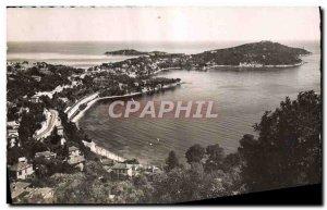 Modern Postcard Villefranche Sur Mer bay and Cap Ferrat